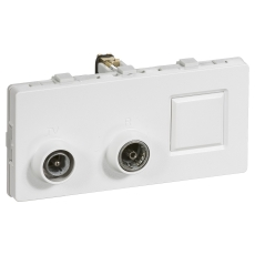 Fuga 2M Multi Slutdåse TV-R TD301 hvid