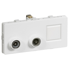 Fuga TD304 2M multi Sløjfedåse TV/R hvid