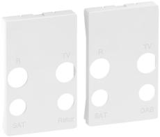 Fuga afdækning til antenneudtag TD253E+TD254E TV/R/Retur hvi