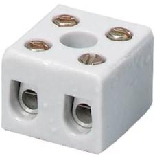 Kronemuffe porcelæn 2 polet 2,5 mm²