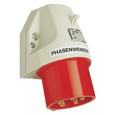 CEE Udvendigt Vægindtag 32A 5P Med Fasevender IP44