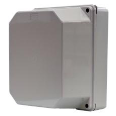 Monteringskasse 190x145x135 mm grå med højt låg