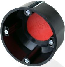 F-Tronic Forfradåse Ø74 D:45 mm brandsikker, sort