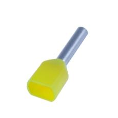 Tylle Isolerede dobbelt 2x1,0 mm², gul, Hi 2x1/8 (100) (W)