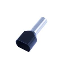 Tylle Isolerede dobbelt 2x6 mm², sort, Hi 2x6/14 (100) (W)