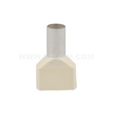 Tylle Isolerede dobbelt 2x16 mm², hvid, Hi 2x16/14 (50) (T)