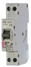ETI Kombiafbryder Automatsikr/HPFI C 13A 30mA 1P+N 1-modul 6