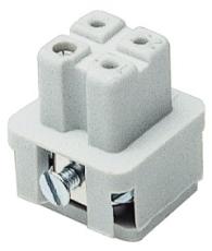 Multistik Indsats A Hun 3P+J 10A 250-400V med skrueklemme