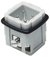 Multistik Indsats A Han 3P+J 10A 250-400V med skrueklemme