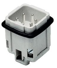 Multistik Indsats A Han 4P+J 10A 250-400V med skrueklemme