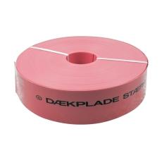 Kabeldæk 100 mm x 2,0 mm x 50 m, rød, stærkstrøm
