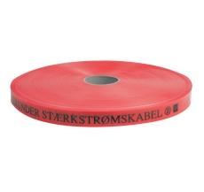 Markeringsbånd, rød, STÆRKSTRØM, 25 x 0,3 mm, 250 m