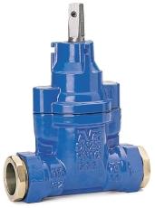 AVK 32 mm stikledningsventil, duktiljern, med trækfaste skru