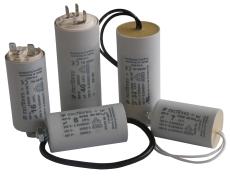 Kondensator RPC24508K-P 450V 8uF, M8 og 250 mm kabel