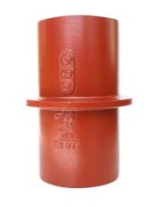 SML faldrørsstøtte/etagegennemføring 110 mm, længde 200 mm