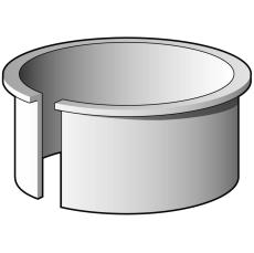 110 mm Støttebøsning for tykke rør