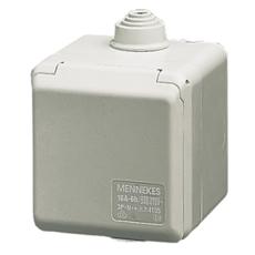 CEE Cepex Udvendigt Vægudtag 16A 3P 6H 230V IP44 på underlag