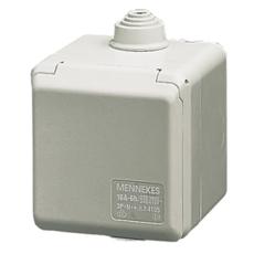 CEE Cepex Udvendigt Vægudtag 16A 5P 6H 400V IP44 på underlag