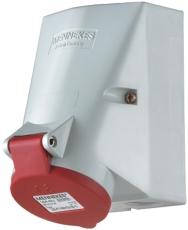 CEE Udvendigt vægudtag 16A 4P 6H 400V IP44 skrueløs på under