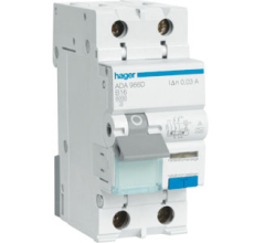 Kombiafbryder Automatsikring/HPFI C 10A 1P+N, 30 mA, ADA960G