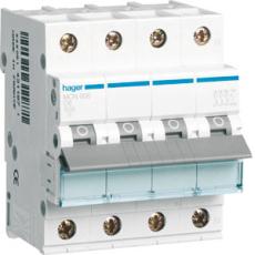 Automatsikring 3P+N C 10A 6kA 4M MCN610E