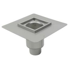 Industriafløb-gulv: beton/fliser-smøremembran, ramme: 200x20