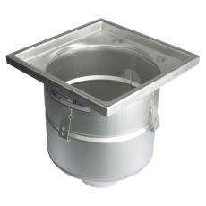 Industriafløb-gulv: beton/fliser-ramme: 300x300mm-udløb: ø11