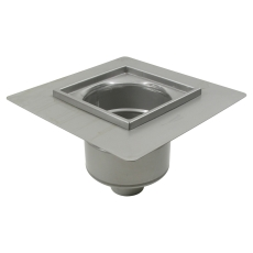 Industriafløb-gulv: beton/fliser-smøremembran, ramme: 300x30