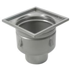 Industriafløb, lav-gulv: beton og fliser-ramme: 300 x 300 mm
