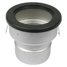 Underdel-udløb: ø110mm, lodret-syrefast stål: aisi316l/en1.4