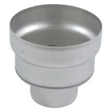 Underdel-udløb: ø160mm, lodret-syrefast stål: aisi316l/en1.4