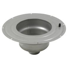 Underdel-smøremembran-udløb: ø110mm, lodret-syrefast stål