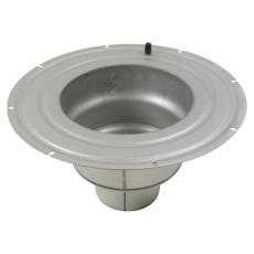 Underdel-smøremembran-udløb: ø160mm, lodret-syrefast stål