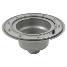 Underdel-klembanemembran-udløb: ø110mm, lodret-syrefast stål