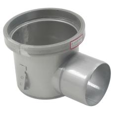 Industriafløb, lav-gulv: epoxy-ramme: ø195mm-udløb: ø110 mm