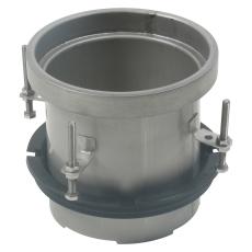 Overdel-gulv: epoxy-ramme: ø195mm-syrefast stål: aisi316l