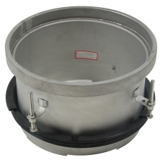Overdel-gulv: epoxy-ramme: ø295mm-syrefast stål: aisi316l