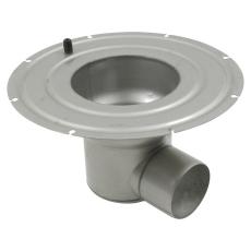 Underdel-smøremembran-udløb: ø110 mm, vandret-syrefast stål