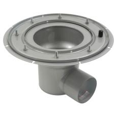 Underdel-klembanemembran-udløb: ø110 mm, vandret-syrefast st