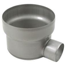 Underdel-udløb: ø110mm, vandret-syrefast stål: aisi316l/en1.