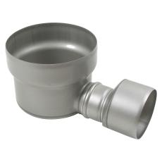 Underdel-udløb: ø160mm, vandret-syrefast stål: aisi316l/en1.