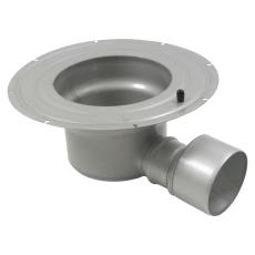 Underdel-smøremembran-udløb: ø160 mm, vandret-syrefast stål