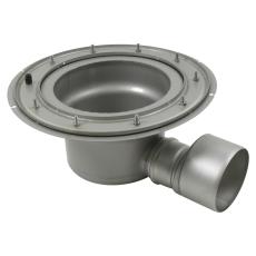 Underdel-klembanemembran-udløb: ø160 mm, vandret-syrefast st