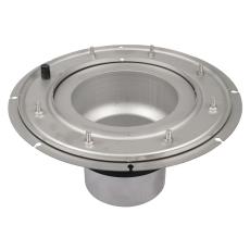 Mellemst med membranklemflange-syrefast stål: aisi316l/en1.4