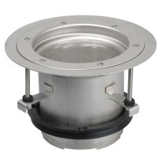 Overdel-gulv: vinyl-ramme: ø232 mm-syrefast stål: aisi316l