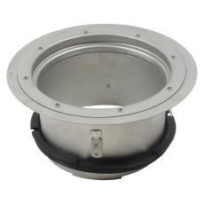 Overdel-gulv: vinyl-ramme: ø332 mm-syrefast stål: aisi316l