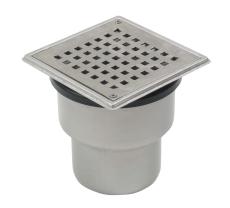 Blücher 110 mm afløbsskål til beton, uden studs, lodret, fle