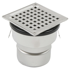 Justerbart boligafløb square-gulv: beton/fliser-ramme: 145x1