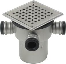 Blücher 110 mm afløbsskål til beton, med studs, lodret, flex