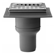 Maxiflex 75 mm afløbsskål til beton, uden studs, lodret